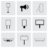 Vector advertisement icon set Stock Photos