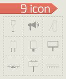 Vector advertisement icon set Stock Photo