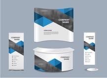Vector advertising exhibition stand design Stock Photos