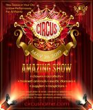 Vector advertising poster for circus amazing show stock illustration
