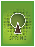 Vector affiches. De seizoenen van vier jaar. De seizoengebonden affiches met stileren Royalty-vrije Stock Foto's