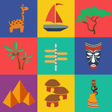 Vector africa flat. Vector africa in flat style. File format eps 10 Stock Image
