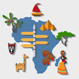 Vector africa travel. File format eps 10 Royalty Free Stock Photo