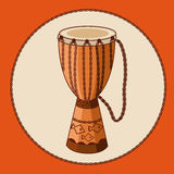 Vector african drum djembe Royalty Free Stock Image