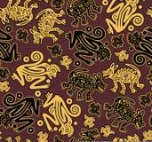 Vector. African indigenous seamless wild animal te Royalty Free Stock Photos