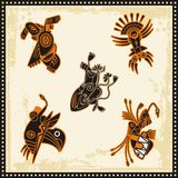 Vector African Tribal Ornaments. Vector set of African tribal ornaments Stock Photos