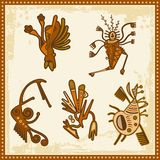 Vector African Tribal Ornaments. Vector set of African tribal ornaments Stock Images