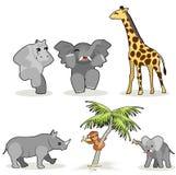 Vector africano de los animales Foto de archivo libre de regalías