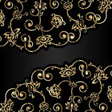 Vector aged ornament with scratch and attrition. Vector aged grunge ornamental background with scratch and attrition Stock Photography