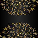 Vector aged ornament with scratch and attrition. Vector aged grunge ornamental background with scratch and attrition Stock Image