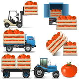 Vector Agricultural Icons Set 2. On white background Stock Photos