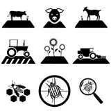 Vector agricultural set Royalty Free Stock Images