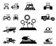 Vector agricultural vehicles set Royalty Free Stock Images