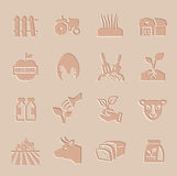 Vector agriculture and farming icons set. This is file of EPS10 format Stock Photo