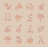 Vector agriculture and farming icons set Stock Photos
