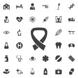 Vector AIDS awareness ribbon sign or icon. Stock Photo