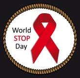 Vector AIDS  ribbon sign or icon Stock Photos