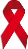 Vector AIDS  ribbon sign or icon Stock Images