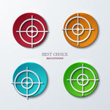 Vector aim icons set on sample background Royalty Free Stock Photos