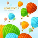 Vector air ballons background Stock Photos