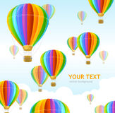 Vector air ballons background Royalty Free Stock Photo