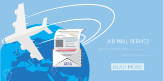 Vector air mail service web icon. Stock Images