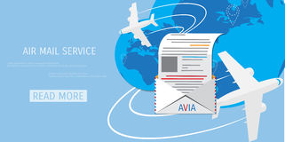 Vector air mail service web icon. Royalty Free Stock Photos