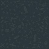 Vector air and sky pattern Airplanes set Royalty Free Stock Photography