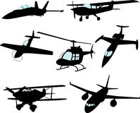 Vector Aircraft Collection Stock Photography