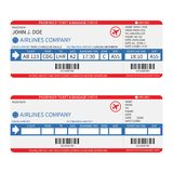 Vector airline passenger and baggage ( boarding pass ) tickets with barcode. Royalty Free Stock Photography