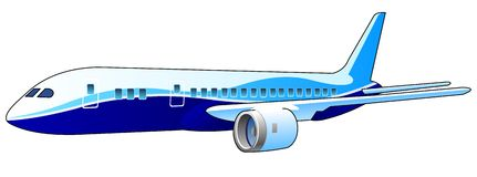 Vector airplane stock illustration