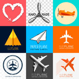 Vector Airplane Collection Royalty Free Stock Photography