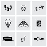 Vector Airplane icon set Stock Images