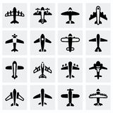 Vector Airplane icon set Stock Image