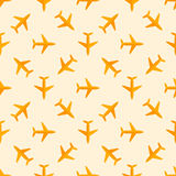 Vector airplane seamless pattern Royalty Free Stock Image