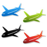 vector airplane stickers Stock Photo