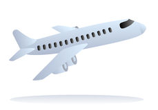 Vector airplane taking off Stock Image