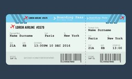 Vector Airplane ticket design template. royalty free illustration