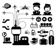 Vector airport icon Stock Photography