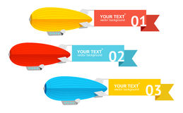 Vector. Airship card for your text Royalty Free Stock Photos