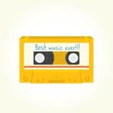 Vector aislado del casete audio Imagen de archivo libre de regalías