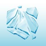 Vector aislado del elemento de la nieve acumulada por la ventisca del casquete glaciar Imagen de archivo
