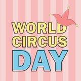 Vector aislado emblema del día del circo del mundo etiqueta alegre del evento del día de fiesta del mundo libre illustration