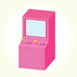 Vector aislado gabinete de la máquina de la arcada Foto de archivo libre de regalías
