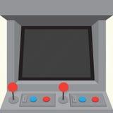 Vector aislado gabinete del juego de la máquina de la arcada Foto de archivo libre de regalías