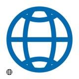 Vector aislado icono eps10 del HTTP de la dirección de WWW Muestra plana simple moderna del globo Concepto del Internet del asunt stock de ilustración