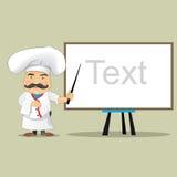 Vector aislado Illustrator del diseño de personaje de dibujos animados de Serving Food Realistic del cocinero del cocinero del ve Imágenes de archivo libres de regalías