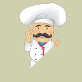 Vector aislado Illustrator del diseño de personaje de dibujos animados de Serving Food Realistic del cocinero del cocinero del ve Imagenes de archivo