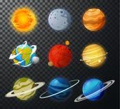 Vector aislado planetas de la Sistema Solar stock de ilustración