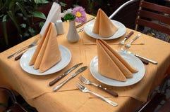 Vector al aire libre del restaurante Imagen de archivo libre de regalías